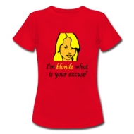 I'm blonde (dames) t-shirt
