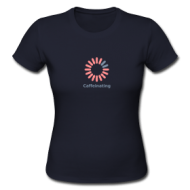 Caffeinating (ladies) t-shirt