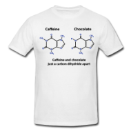 Caffeine en Chocolate t-shirt