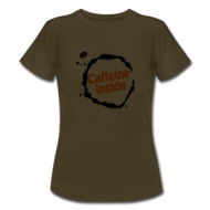 Caffeine inside (dames)  shirt