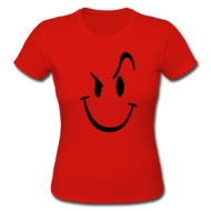 Evil smilie (Dames) t-shirt