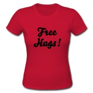 Free Hugs! (dames) shirt