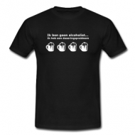 Doserings probleem (alcoholist) shirt