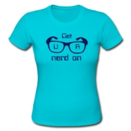Get UR nerd on! (dames) t-shirt