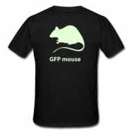 GFP mouse - glow in the dark print (heren) t-shirt