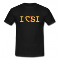 I love CSI (heren) t-shirt
