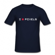 I Love Pixels (heren) shirt