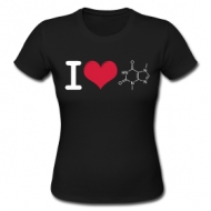 I love Theobromine (dames) shirt