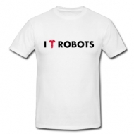 I love/screw robots shirt
