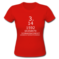 Pi getal (ladies) t-shirt