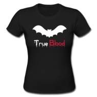 True blood zwart (dames) shirt